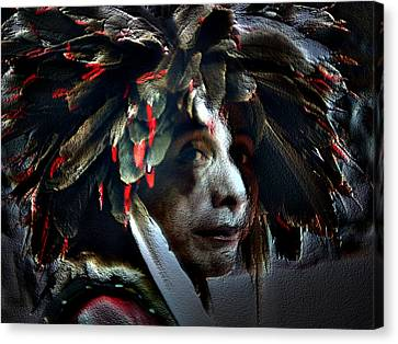 Eagle Feather Canvas Print by Irma BACKELANT GALLERIES