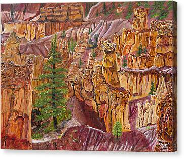Southern Utah Canvas Print - Eagle Flying In Bryce Canyon by Ornon Shaw