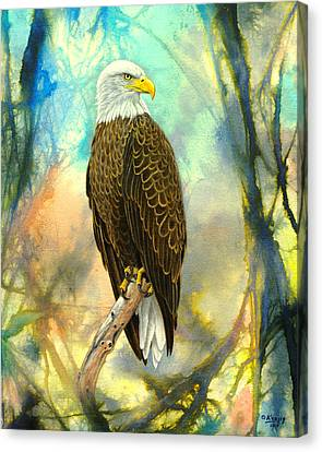Eagle In Abstract Canvas Print by Paul Krapf