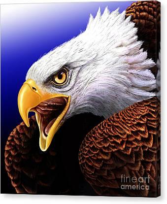 Eagle Canvas Print by Jurek Zamoyski