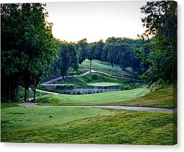 Eagle Knoll - Hole Fourteen From The Tees Canvas Print by Cricket Hackmann