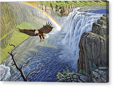Eagle-mesa Falls Canvas Print by Paul Krapf