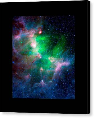 Eagle Nebula Infrared View Large Black Border Canvas Print by L Brown