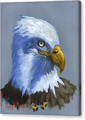 Eagle Patrol Canvas Print by Jeff Brimley