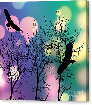 Canvas Print featuring the digital art Eagle Rebirth Light by Kim Prowse