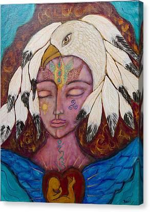 Eagle Shaman Canvas Print by Havi Mandell
