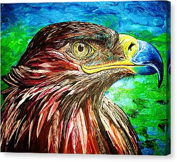 Canvas Print featuring the painting Eagle by Viktor Lazarev