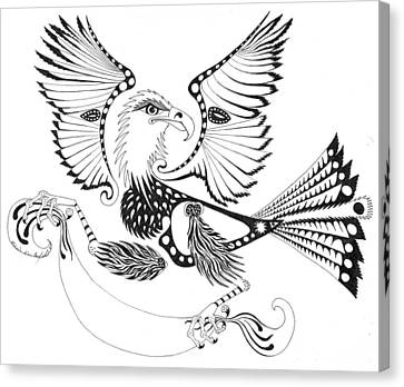 Eagle With A Banner Canvas Print