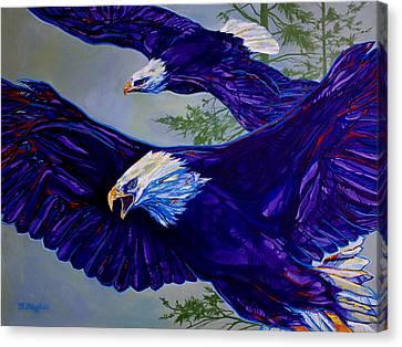 Eagles  Canvas Print by Derrick Higgins