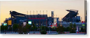 Eagles Football At The Linc Canvas Print by Bill Cannon