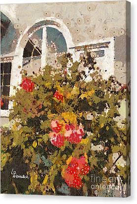 Alameda Roses Canvas Print by Linda Weinstock