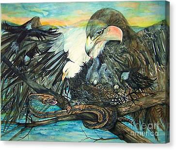 Eagles Nest Canvas Print by Laneea Tolley