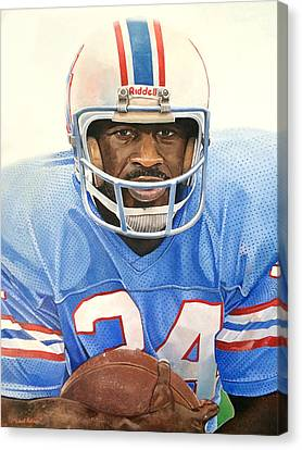 Earl Campbell Canvas Print by Michael  Pattison