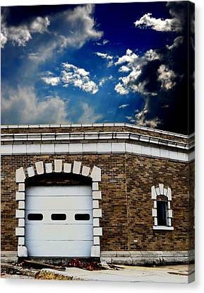 Canvas Print featuring the photograph Early 1900s St. Louis Firehouse by Maggy Marsh