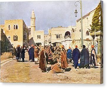 Early 19th Century Bethlehem Market Canvas Print by Munir Alawi