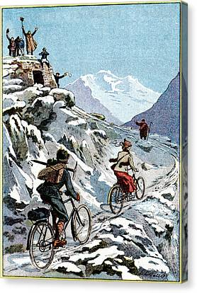 Early 20th Century Bike Advert Canvas Print