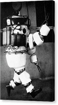 Early 20th Century Diving Suit Canvas Print by Cci Archives