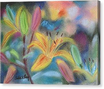 Early Arrival Lily Canvas Print by Julie Brugh Riffey