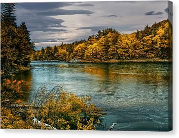 Early Autumn Along The Androscoggin River Canvas Print by Bob Orsillo