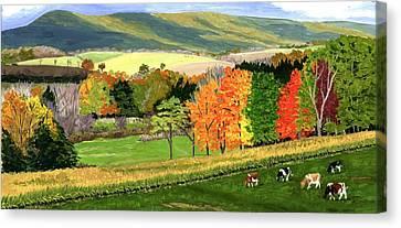 Early Autumn At Bear Meadows Farm Canvas Print