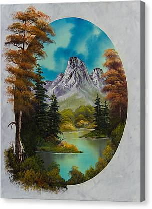Bob Ross Canvas Print - Russet Autumn  by Chris Steele