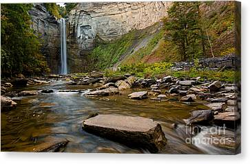 Early Autumn Morning At Taughannock Falls Canvas Print