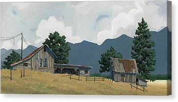 Early Bigfork Farmstead Canvas Print