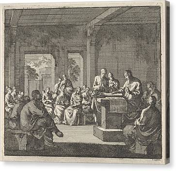 Early Christian Community Listening To A Reading Canvas Print by Quint Lox