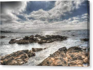 Early Evening At 17 Mile Drive Canvas Print by Paul Beckelheimer