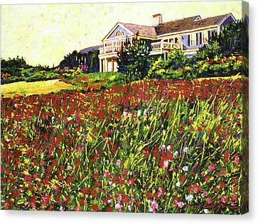 Early Evening At Cape Cod Canvas Print by David Lloyd Glover