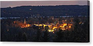 Early Evening In Cazenovia Canvas Print by John   Kennedy