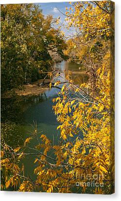 Early Fall On The Navasota Canvas Print by Robert Frederick