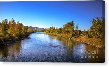 Early Fall On The Payette River Canvas Print by Robert Bales