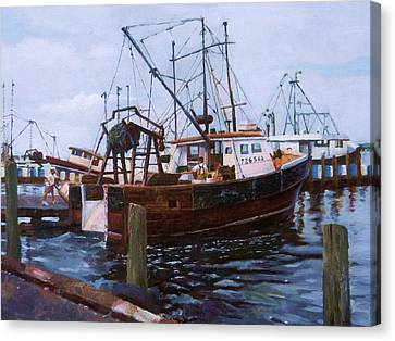 Early Harbor Morning Canvas Print by Noe Peralez
