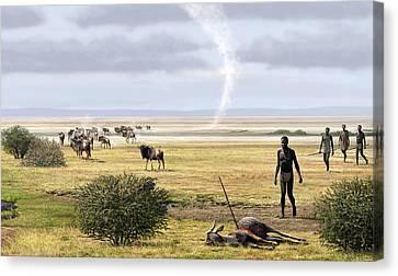 Early Humans Canvas Print by Mauricio Anton
