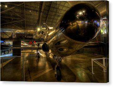 Early Jet Fighter Canvas Print by David Dufresne