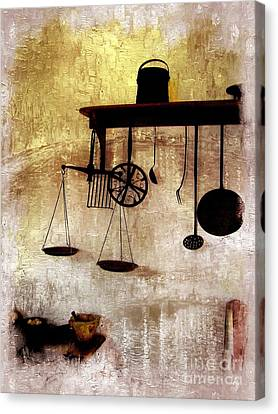 Early Kitchen Tools Canvas Print by Marcia Lee Jones