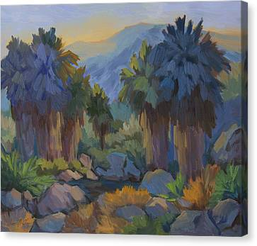 Early Light Indian Canyon Canvas Print by Diane McClary