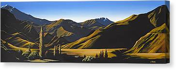 Aotearoa Canvas Print - New Zealand Lindis Pass By Linelle Stacey by Linelle Stacey