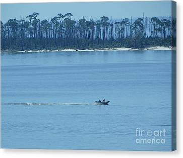 Panama City Beach Canvas Print - Early Moring Boaters by Joseph Baril
