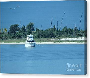 Early Morning Anchored Canvas Print by Joseph Baril