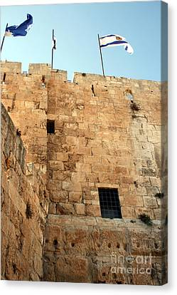 Canvas Print featuring the photograph Early Morning At The Jaffa Gate by Doc Braham