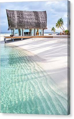 Early Morning At The Maldivian Resort 1 Canvas Print