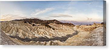 Early Morning At Zabriskie Point Canvas Print by Colin and Linda McKie