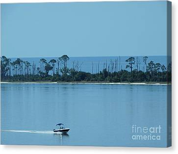 Early Morning Boating Canvas Print by Joseph Baril