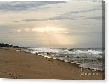 Early Morning By The Shore  Canvas Print by A New Focus Photography