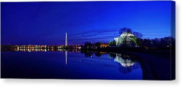 Early Morning Cherry Blossoms Canvas Print by Metro DC Photography