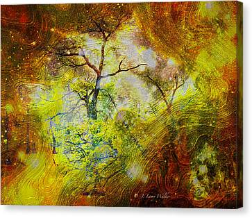 Early Morning Cypress Abstract Canvas Print by J Larry Walker
