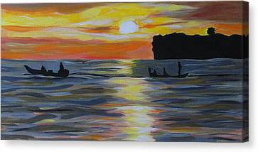 Early Morning Fishing Canvas Print by Fatima Neumann