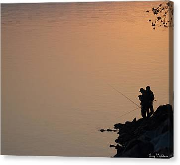 Early Morning Fishing Canvas Print by Gary Wightman
